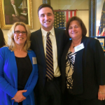 Rep. Henry Beck and with Andrea Pasco and Michele Prince from KVCAP