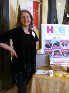 Delilah Poupoure, Heart of Biddeford, with her exhibit table